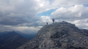 Summit of Big Sister under moody skies